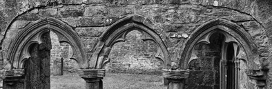 Cloister arches.