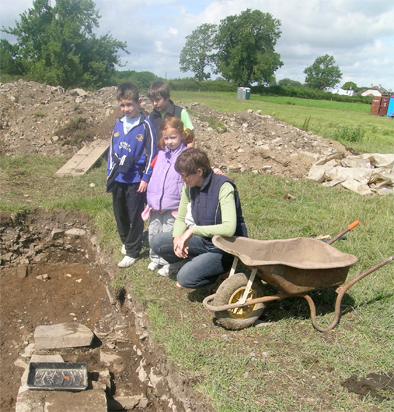 Important visitors to the site; Hugh Conaghy, Hugh Young, Nora Conaghy and Bernie Condon.