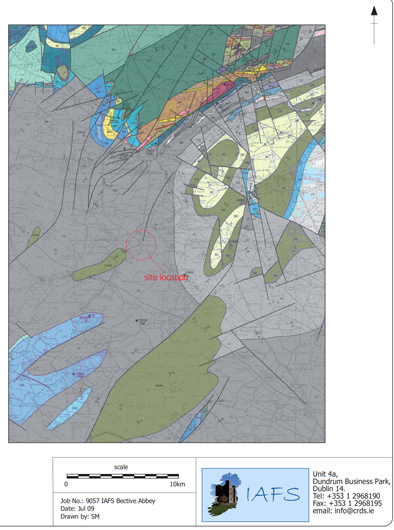 The geology of the Bective area.
