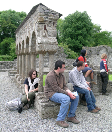 The IAFS participants visit Ireland's first Cistercian Abbey at Mellifont. They got a great tour from OPW guide Eibhlin.