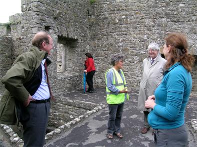 Dermot Burke, Geraldine Stout, Martin Mansergh and Ann Dolan at BEctive Abbey.