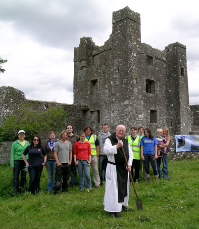 Father Augustine and the Irish Archaeological Field School.
